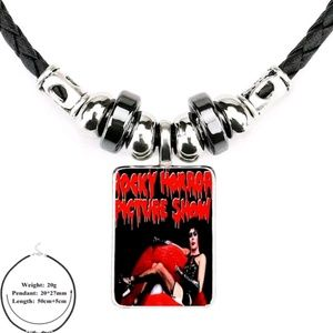 Rocky Horror Picture Show Glass Cabochon Necklace